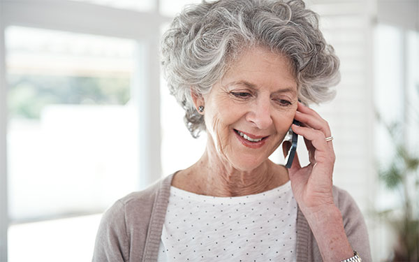 Image of woman on the phone