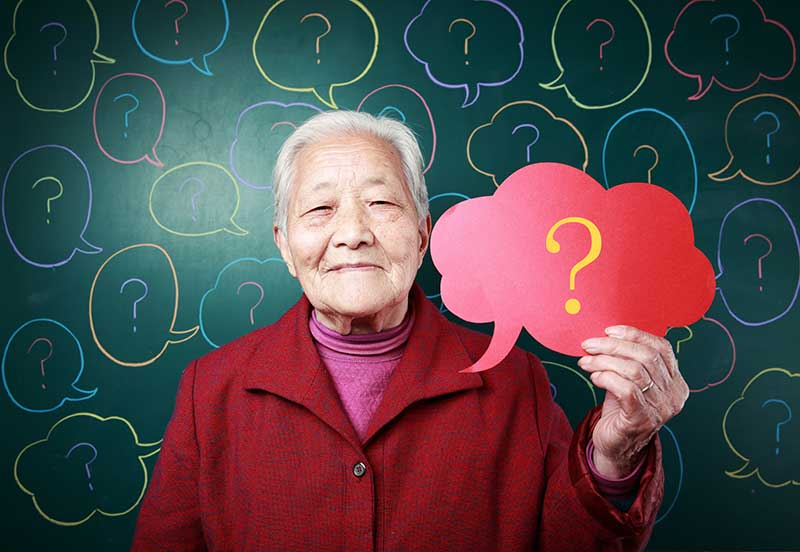 Woman with questions about assisted living