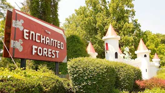 Enchanted Forest Sign and Castle