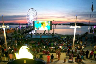 Ourdoor Movie at National Harbor