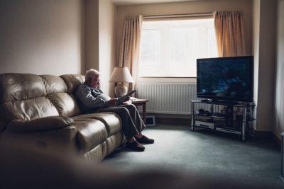 Elderly Man Sitting Alone