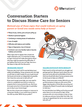 Conversation Starters Data Sheet